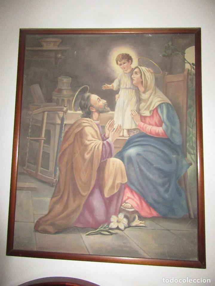 TAPIZ ANTIGUO, ENMARCADO, SIGLO XIX (Arte - Arte Religioso - Pintura Religiosa - Otros)
