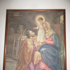 Arte: TAPIZ ANTIGUO, ENMARCADO, SIGLO XIX. Lote 104088363