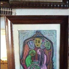 Arte: CUADRO AL PASTEL DE ABRAIDO DEL REY. Lote 98747191