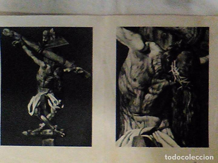 Arte: ANTIGUO RARO JESUCRISTO EN LA CRUZ LAMINA DOBLE DE CRISTO ATADO SENTADO PIERNAS CRUZADAS RAREZA - Foto 2 - 104351843