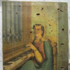 Arte: PINTURA AL ÓLEO DE SANTA CECILIA S.XIX. Lote 104386915