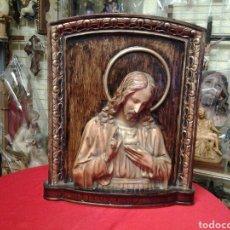 Arte: RETABLO ANTIGUO DEL SAGRADO CORAZÓN DE JESUS. Lote 104394934