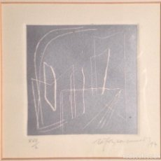 Arte: GRABADO RAFOLS CASAMADA. FIRMADO A LÁPIZ Y NUMERADO XVII/L. FECHADO 1997. 14X13'5 CM. ENMARCADO.. Lote 104458427