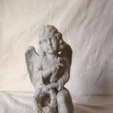 Arte: FIGURA DE ANGEL EN PORCELANA DE BISCUIT. 21 CM.. Lote 104466903