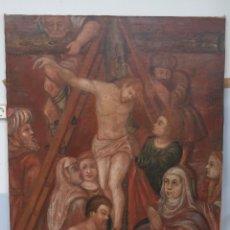 Arte: BONITO DESCENDIMIENTO. OLEO S/ LIENZO. SIGLO XVII. ESCUELA CASTELLANA. Lote 104476963
