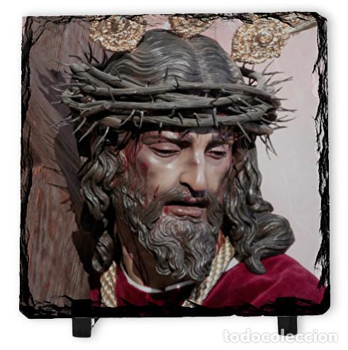 BALDOSA DE PIZARRA 15X15 DEL NAZARENO DE LA HUMILDAD DE SEVILLA (EL CERRO) (Arte - Arte Religioso - Escultura)