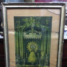 Arte: LITOGRAFIA VIRGEN DEL PILAR DE ZARAGOZA - AÑO 1940 - MEDIDA MARCO 70,5X49,5 CM - RELIGIOSO - CAPILLA. Lote 115779810