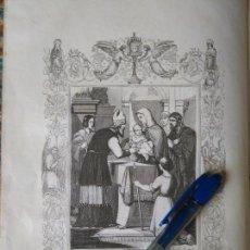 Arte: REF: KK - AÑO 1852 ORIGINAL GRABADO DE LA EPOCA RELIGIOSO - LA CIRCUNCISION DEL SEÑOR - NIÑO JESUS. Lote 104603875