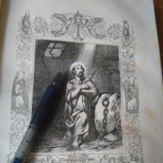 Arte: REF: KK - AÑO 1852 ORIGINAL GRABADO DE LA EPOCA RELIGIOSO - SAN JULIAN MARTIR. Lote 104609339