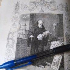 Arte: REF: KK - AÑO 1852 ORIGINAL GRABADO DE LA EPOCA RELIGIOSO - SAN BENITO BISCOP, CONFESOR. Lote 104609483