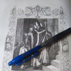 Arte: REF: KK - AÑO 1852 ORIGINAL GRABADO DE LA EPOCA RELIGIOSO - SAN FULGENCIO. Lote 104609683