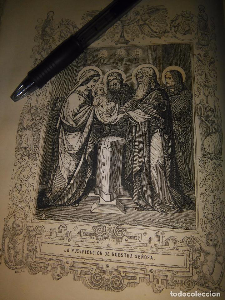 REF: KK - AÑO 1852 ORIGINAL GRABADO DE LA EPOCA RELIGIOSO - LA PURIFICACION DE NUESTRA SEÑORA VIRGEN (Arte - Arte Religioso - Grabados)