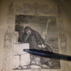 Arte: REF: KK - AÑO 1852 ORIGINAL GRABADO DE LA EPOCA RELIGIOSO - SAN ROMUALDO . Lote 104634331
