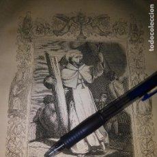 Arte: REF: KK - AÑO 1852 ORIGINAL GRABADO DE LA EPOCA RELIGIOSO - SAN JUAN DE MATA FUNDADOR. Lote 104634391
