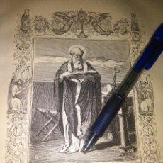 Arte: REF: KK - AÑO 1852 ORIGINAL GRABADO DE LA EPOCA RELIGIOSO - SAN ALEJANDRO . Lote 104636507