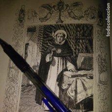 Arte: REF: KK - AÑO 1852 ORIGINAL GRABADO DE LA EPOCA RELIGIOSO - SANTO TOMAS DE AQUINO CONFESOR Y DOCTOR. Lote 104641803