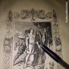Arte: REF: KK - AÑO 1852 ORIGINAL GRABADO DE LA EPOCA RELIGIOSO - SAN MELITON. Lote 104642143