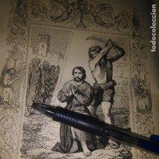 Arte: REF: KK - AÑO 1852 ORIGINAL GRABADO DE LA EPOCA RELIGIOSO - SAN EULOGIO. Lote 104642303