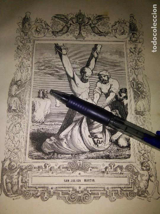 REF: KK - AÑO 1852 ORIGINAL GRABADO DE LA EPOCA RELIGIOSO - SAN JULIAN MARTIR (Arte - Arte Religioso - Grabados)