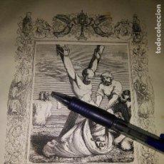 Arte: REF: KK - AÑO 1852 ORIGINAL GRABADO DE LA EPOCA RELIGIOSO - SAN JULIAN MARTIR. Lote 104642571