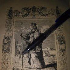 Arte: REF: KK - AÑO 1852 ORIGINAL GRABADO DE LA EPOCA RELIGIOSO - SAN PATRICIO OBISPO Y CONFESOR. Lote 104642683