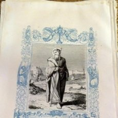 Arte: 1852 ANTIGUO GRABADO ORIGINAL CON ORLA AZUL DE SAN BERNABE, 166X266 MM. Lote 104670519