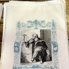 Arte: 1852 ANTIGUO GRABADO ORIGINAL CON ORLA AZUL DE SAN ISAAC, 166X266 MM. Lote 104670587