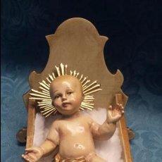 Arte: NIÑO JESÚS EN CUNA DE MADERA. Lote 104700943