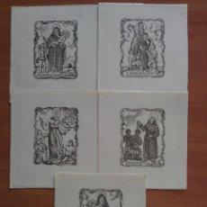 Arte: CINCO GRABADOS RELIGIOSOS - ITALIANOS. Lote 104740203