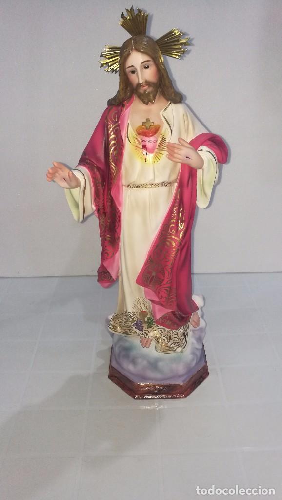 ESCULTURA CRISTO DEL SAGRADO CORAZÓN 60 CM (Arte - Arte Religioso - Escultura)