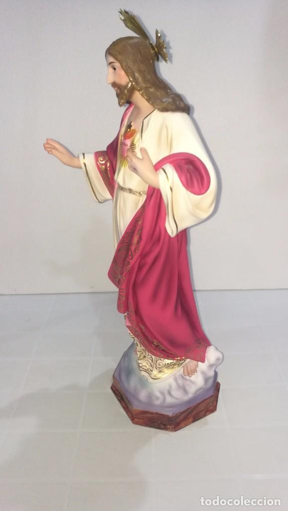 Arte: Escultura Cristo del Sagrado Corazón 60 cm - Foto 2 - 104802231