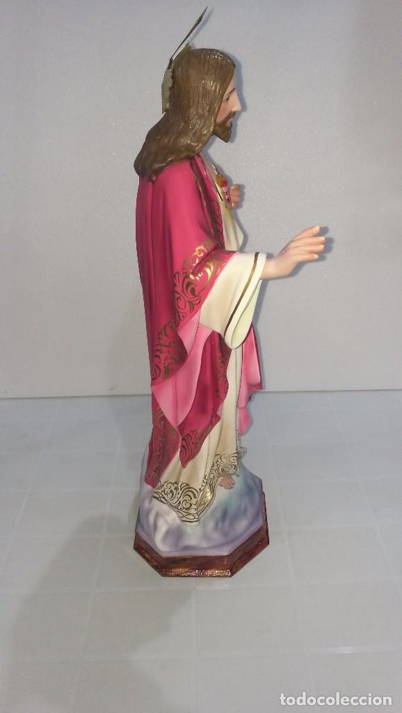 Arte: Escultura Cristo del Sagrado Corazón 60 cm - Foto 3 - 104802231