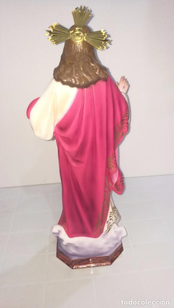 Arte: Escultura Cristo del Sagrado Corazón 60 cm - Foto 4 - 104802231
