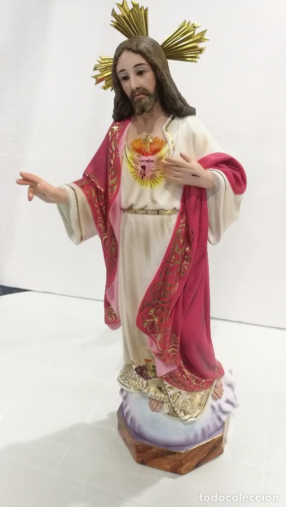Arte: Escultura Cristo del Sagrado Corazón 50 cm - Foto 3 - 104802363