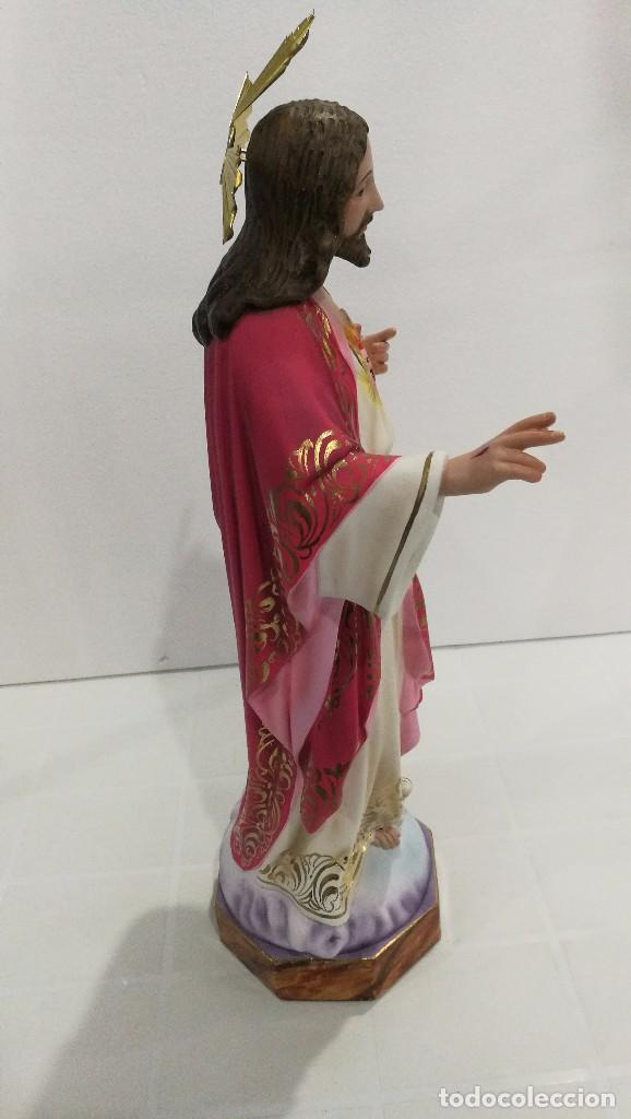Arte: Escultura Cristo del Sagrado Corazón 50 cm - Foto 5 - 104802363