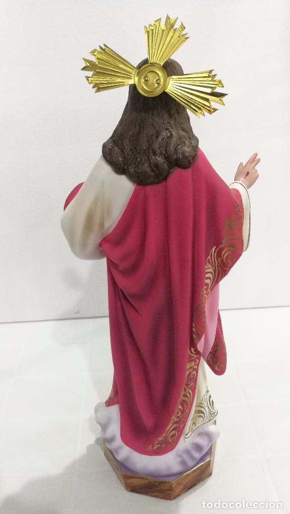 Arte: Escultura Cristo del Sagrado Corazón 50 cm - Foto 7 - 104802363
