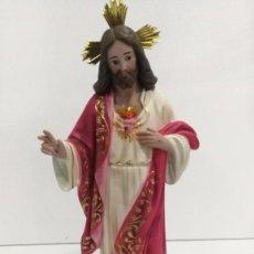 Arte: ESCULTURA CRISTO DEL SAGRADO CORAZÓN 40 CM. Lote 104802615