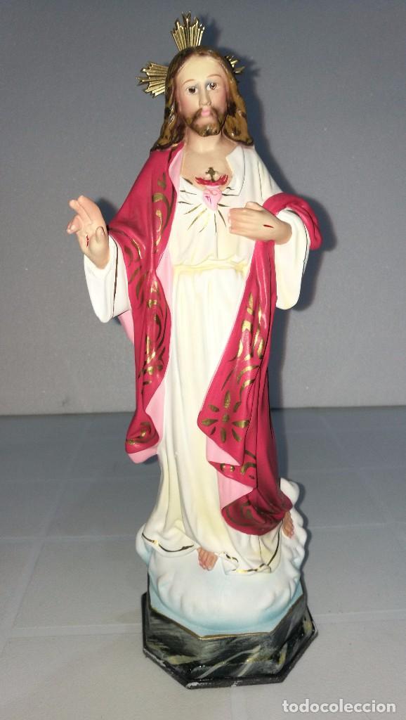 ESCULTURA CRISTO DEL SAGRADO CORAZÓN 30 CM (Arte - Arte Religioso - Escultura)