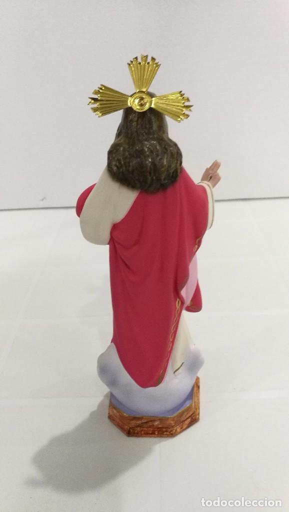 Arte: Escultura Cristo del Sagrado Corazón 20 cm - Foto 4 - 104804159