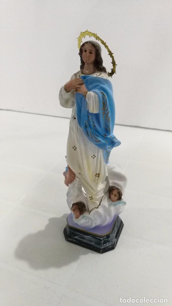 Arte: Escultura Virgen la Purisima Inmaculada Concepción 20 cm - Foto 2 - 104817139