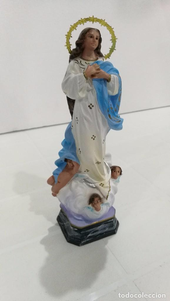 Arte: Escultura Virgen la Purisima Inmaculada Concepción 20 cm - Foto 3 - 104817139