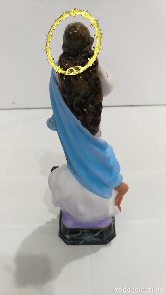 Arte: Escultura Virgen la Purisima Inmaculada Concepción 20 cm - Foto 4 - 104817139