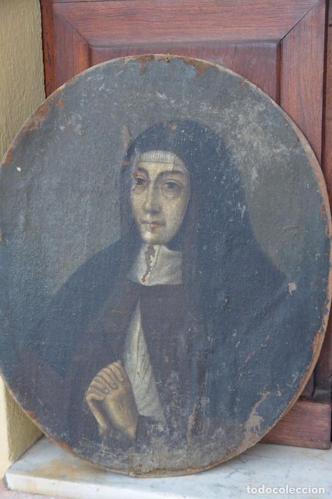 RETRATO MONJA SIGLO XVII (Arte - Arte Religioso - Pintura Religiosa - Oleo)