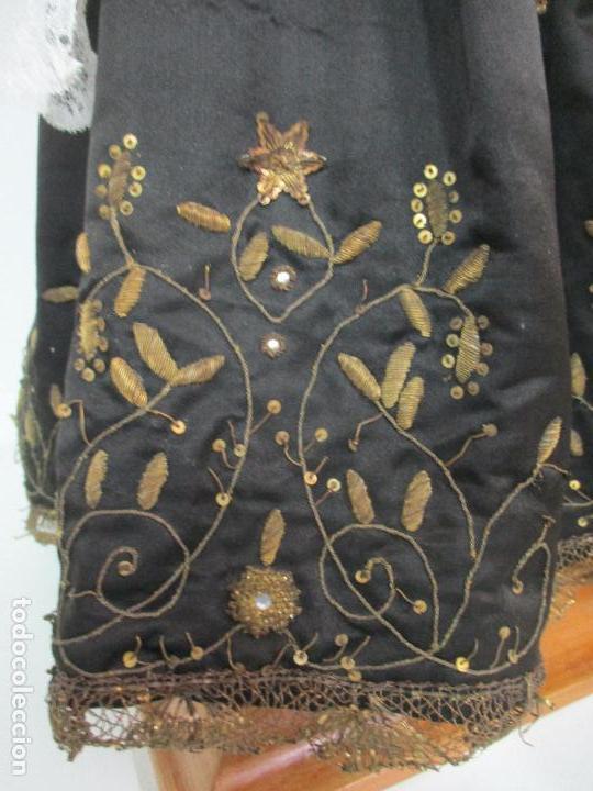 Arte: Virgen Dolorosa - Cap y Pota - Madera Policromada - Bordado Hilo de Oro - Corona y Corazón de Plata - Foto 6 - 104945167