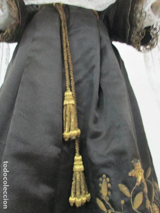 Arte: Virgen Dolorosa - Cap y Pota - Madera Policromada - Bordado Hilo de Oro - Corona y Corazón de Plata - Foto 10 - 104945167
