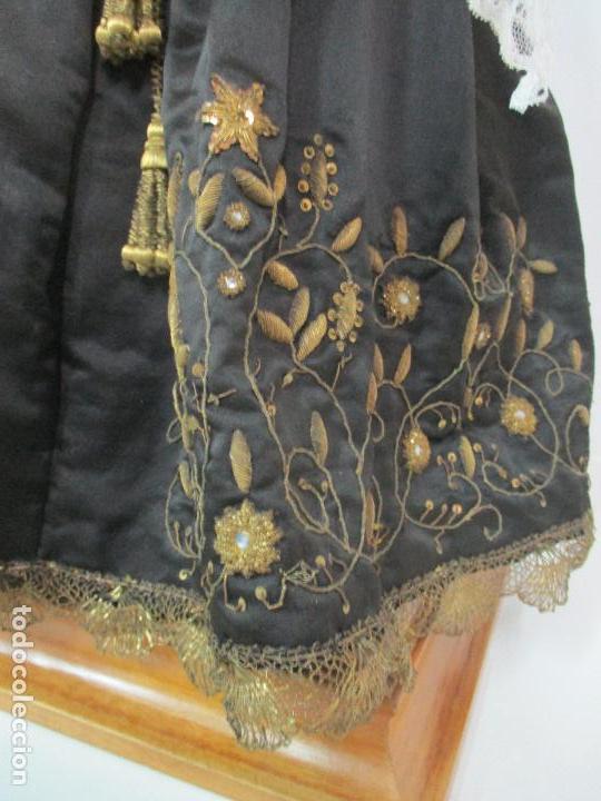 Arte: Virgen Dolorosa - Cap y Pota - Madera Policromada - Bordado Hilo de Oro - Corona y Corazón de Plata - Foto 11 - 104945167