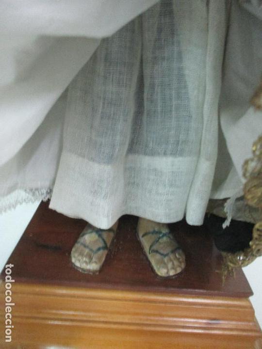 Arte: Virgen Dolorosa - Cap y Pota - Madera Policromada - Bordado Hilo de Oro - Corona y Corazón de Plata - Foto 14 - 104945167