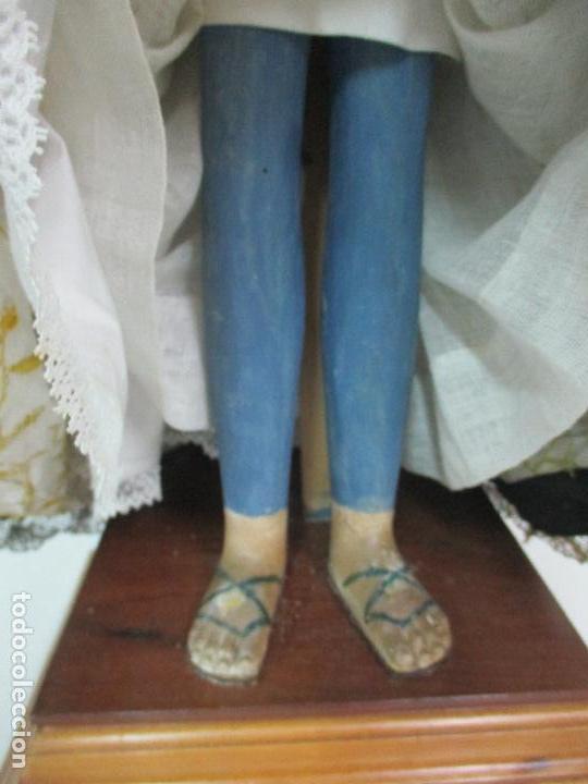 Arte: Virgen Dolorosa - Cap y Pota - Madera Policromada - Bordado Hilo de Oro - Corona y Corazón de Plata - Foto 15 - 104945167
