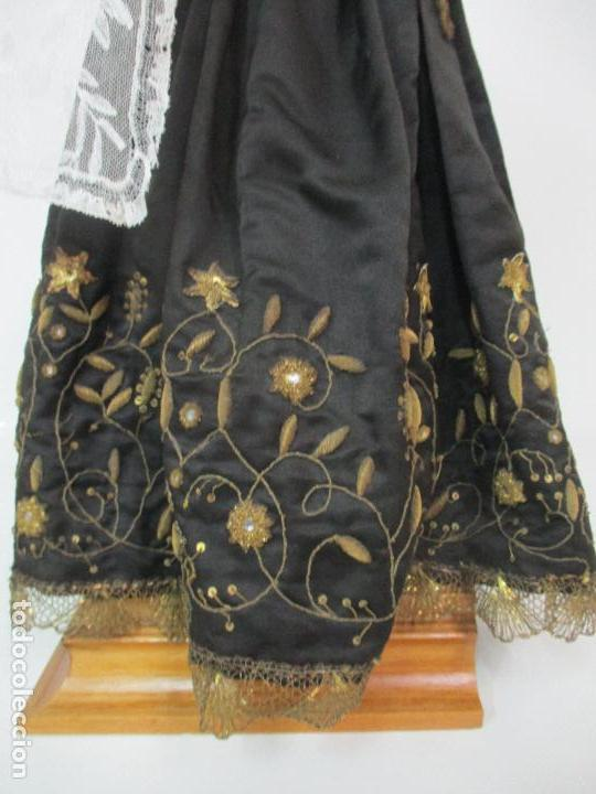 Arte: Virgen Dolorosa - Cap y Pota - Madera Policromada - Bordado Hilo de Oro - Corona y Corazón de Plata - Foto 33 - 104945167