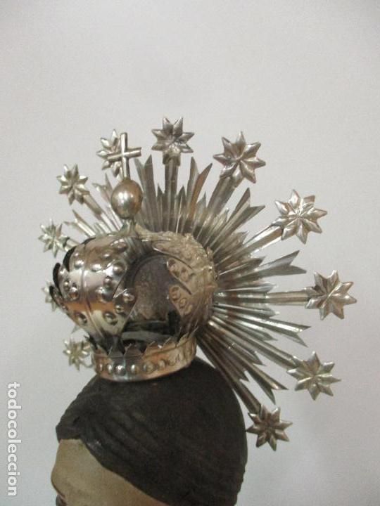 Arte: Virgen Dolorosa - Cap y Pota - Madera Policromada - Bordado Hilo de Oro - Corona y Corazón de Plata - Foto 37 - 104945167